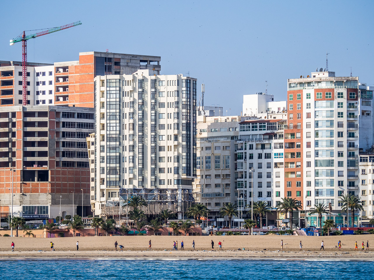 Modern Tangiers along the Waterfront, Morocco