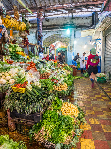 Vegetables in the Indoor Market, Tangiers