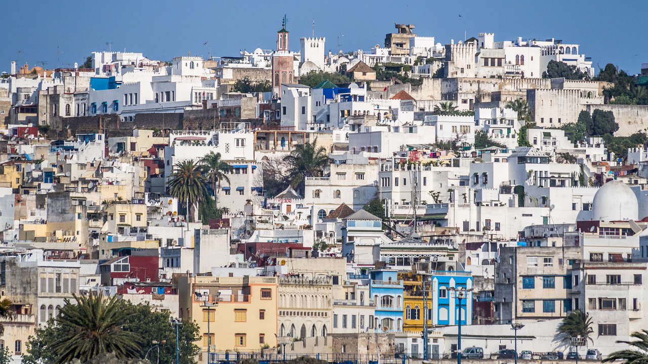 Panorama of the Old Medina, Tangiers, Morocco