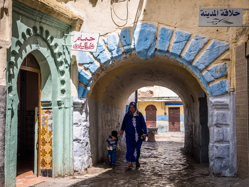 Mother and Son Passing Through, Tangiers, Morocco