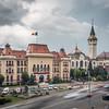 Rushing past the Town Hall, Târgu Mureș, Romania