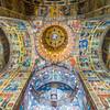 Looking up inside the Orthodox Church, Târgu Mureș