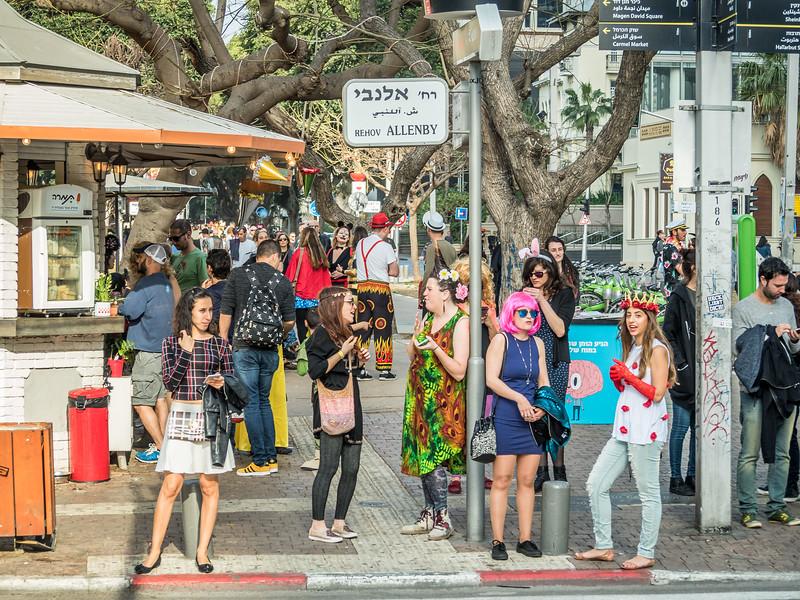 Rothschild Purim Street Scene, Tel Aviv, Israel
