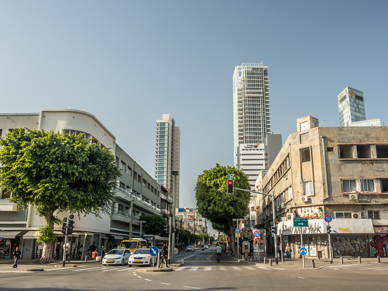Heading Up Allenby St., Tel Aviv, Israel