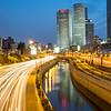 Night on the Azrieli Towers, Tel Aviv, Israel