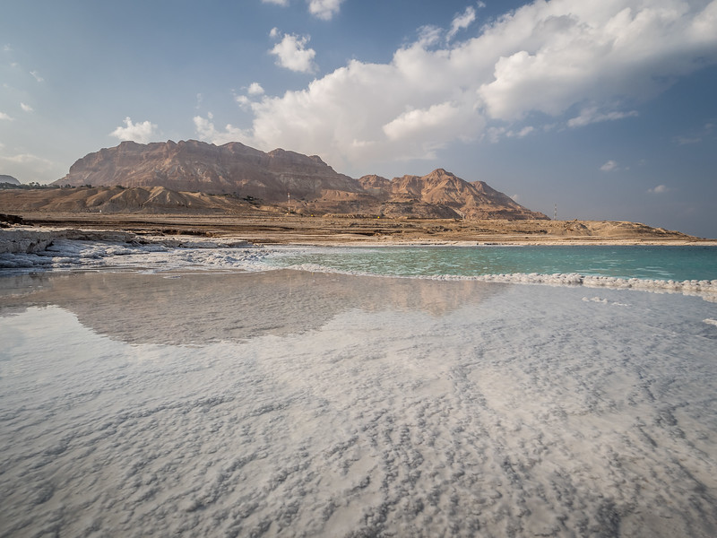 Ein Gedi Mountains Reflected in the Dead Sea, Israel