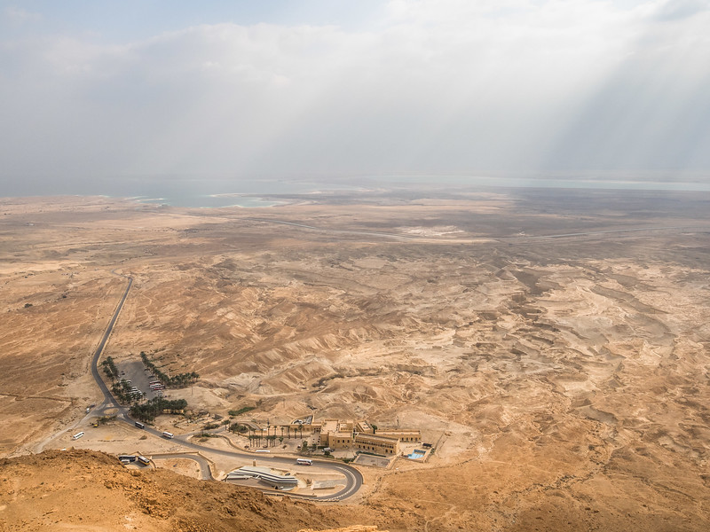 The Dead Sea Basin from Masada, Israel