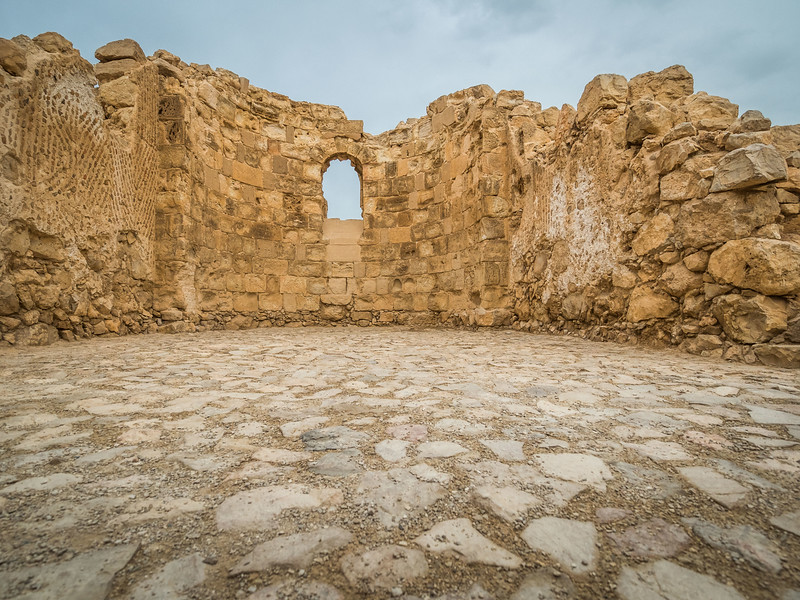 Ruins of the Byzantine Chapel, Masada, Israel
