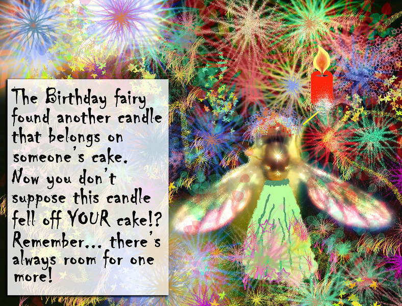 Colorful Birthday card (Blank inside). May also be created as a postcard