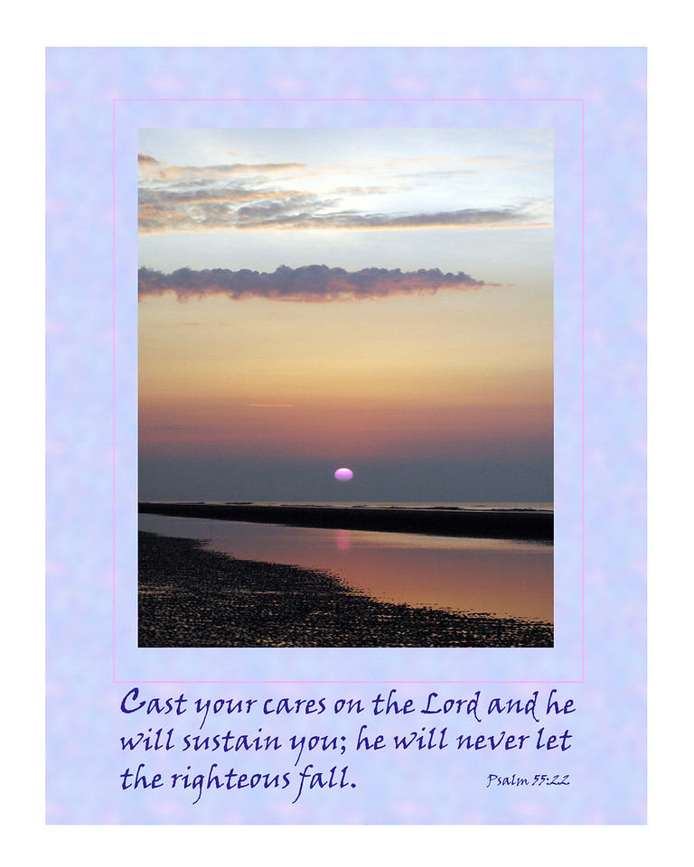 """Motivational poster with """"Psalms 55"""" theme. This can be designed for the cover of a notecard. Special orders are accepted for any notecard orders. Send an e-mail for further information."""