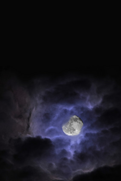 This October evening, the moon put on a show as the clouds rushed swiftly by.
