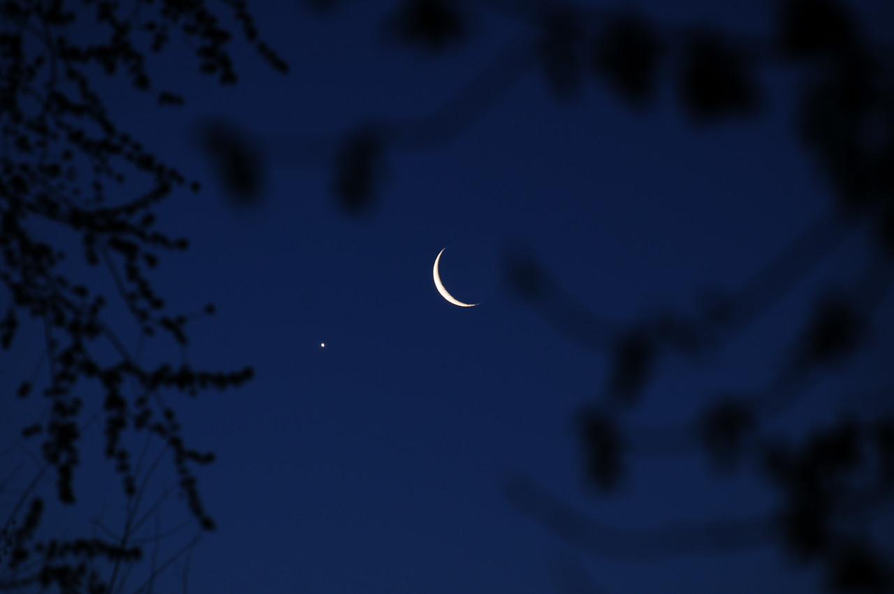 "Moon mooning Venus from a different ""perspective."""