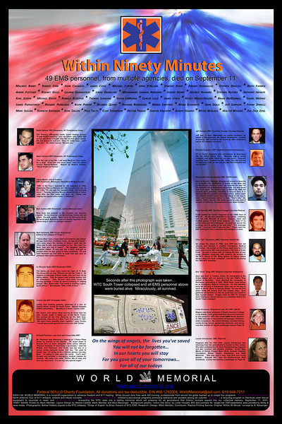 "This is the official World Trade Center Memorial Poster using my photograph as background. Visit their website to download the free pdf file: <a href=""http://www.world-memorial.org"">http://www.world-memorial.org</a><br /> However going to the address below will immediately make the file avaliable for downloading:<br />  <a href=""http://www.publicsafety.net/PDF/9_11_01_EMS_Poster_24x36.pdf"">http://www.publicsafety.net/PDF/9_11_01_EMS_Poster_24x36.pdf</a>"