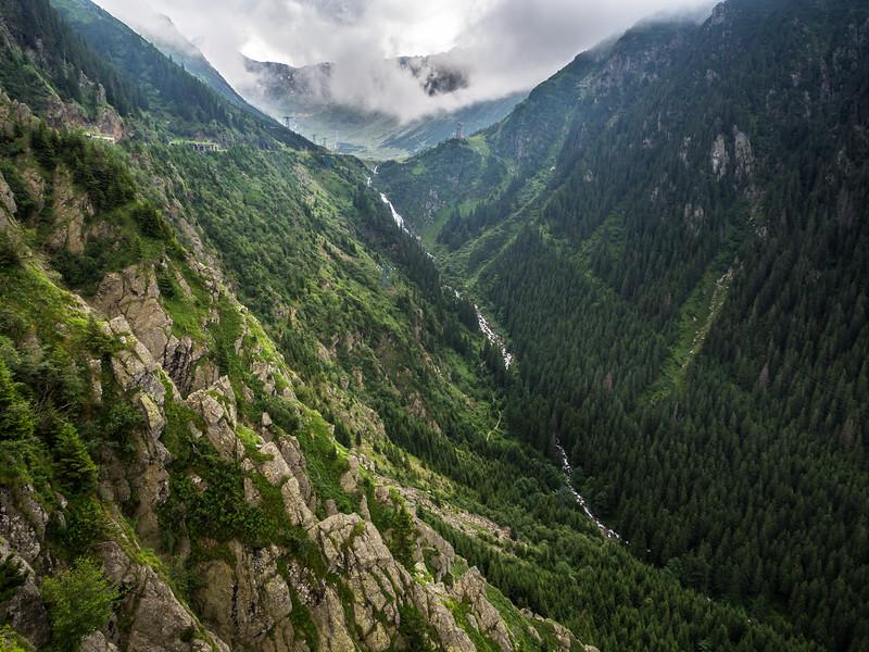 Carpathian Canyon along the Transfăgărașan Road, Romania