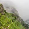 Steep Mountainside and the Mist, Bucegi