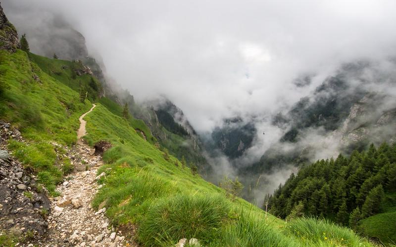 Trail into the Clouds, Bucegi, Romania