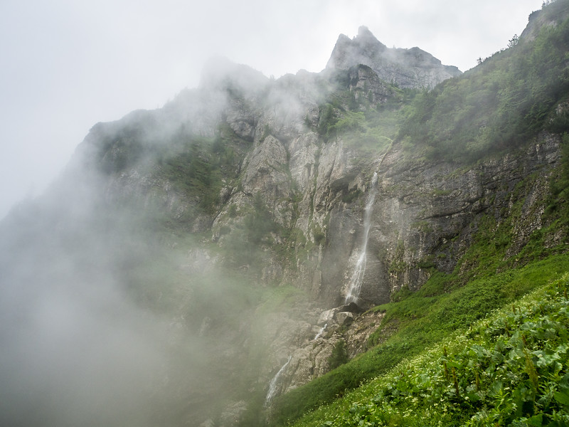 Misty Waterfall, Bucegi, Romania
