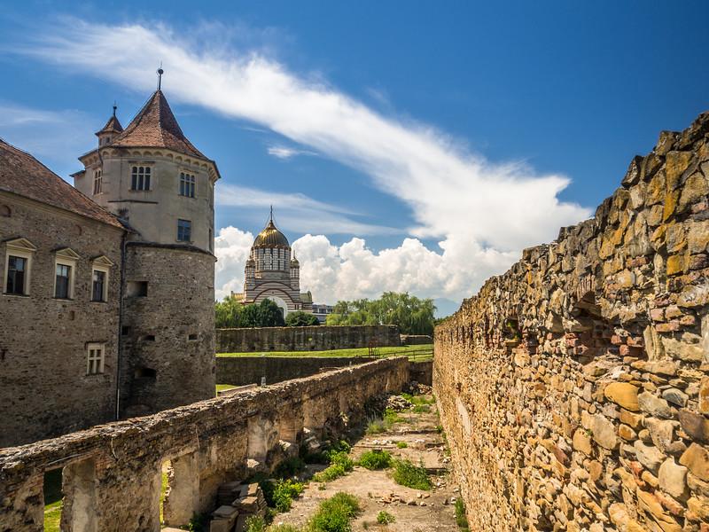 At the Făgăraș Fortress, Romania