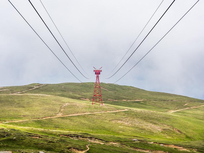 Cable Car into the White, Bucegi, Romania