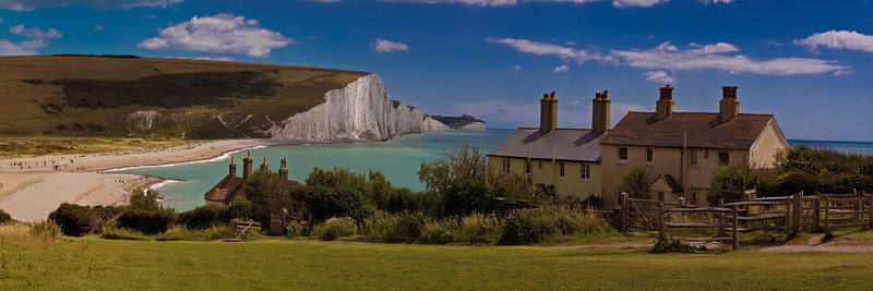 The Seven Sisters and the Coast Guard Cottages