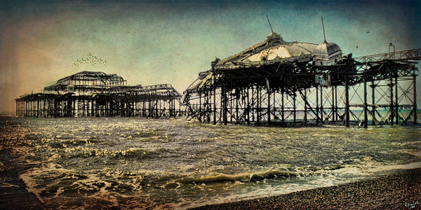 "After the Fire, The Old West Pier in Brighton An ""oldie but goodie"" from my 35 mm slide collection."