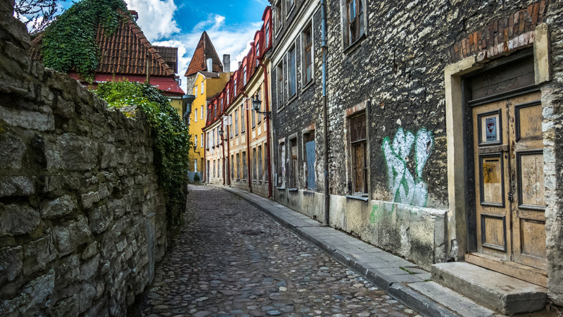 Forgotten Alley, Tallinn, Estonia