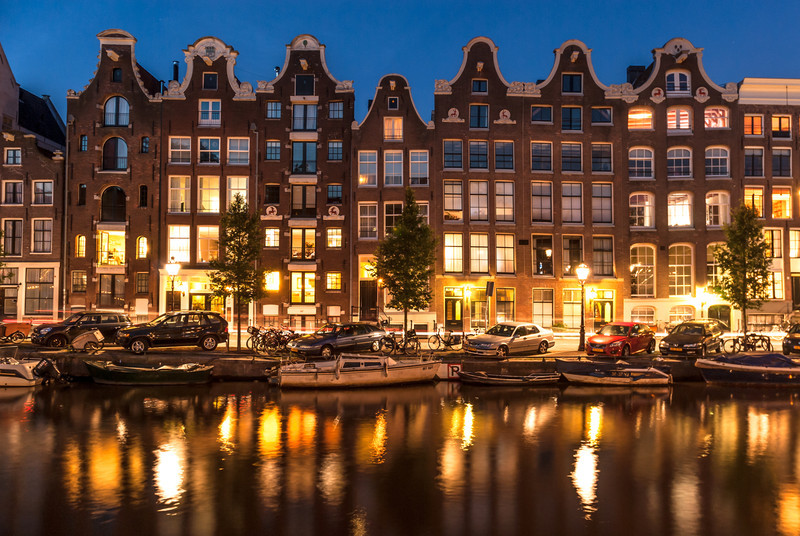 Summer Evening on the Canals, Amsterdam, The Netherlands