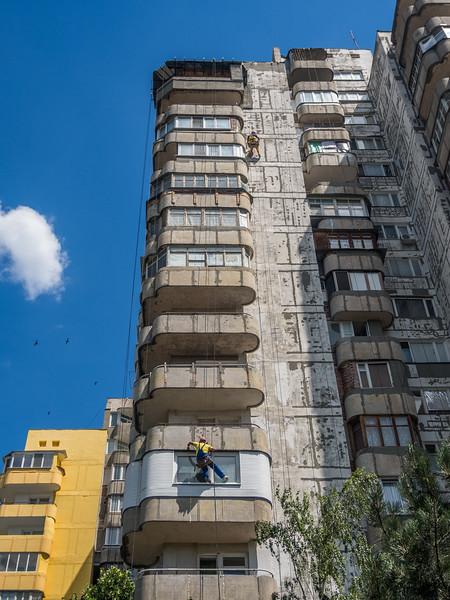 Washing Windows, Tiraspol, Transnistria