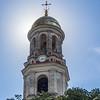 Backlit Belltower, Noul Neamt Monastery, Transnistria