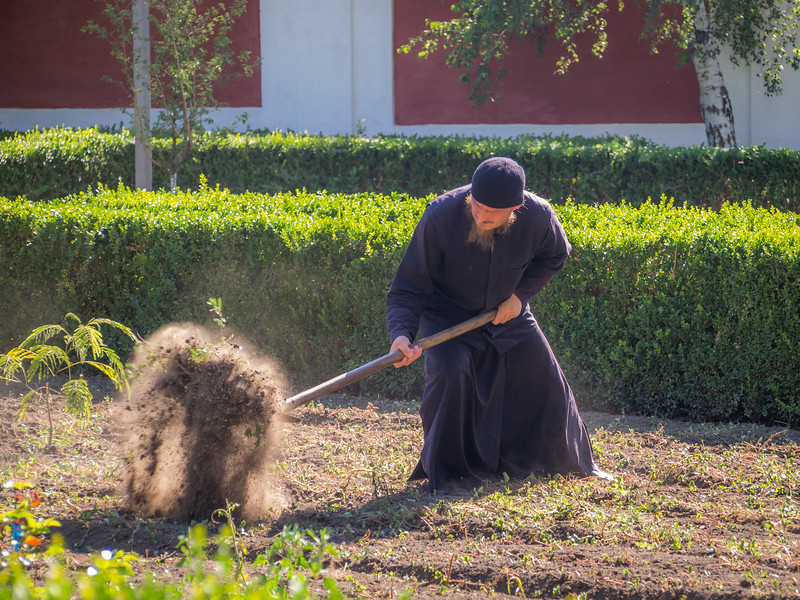 The Monk in the Monastery Garden, Transnistria