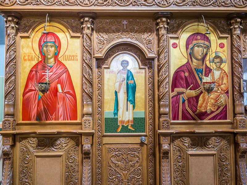 Ornate Icons, Noul Neamt Monastery, Transnistria