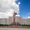 The Parliament and Lenin, Tiraspol, Transnistria