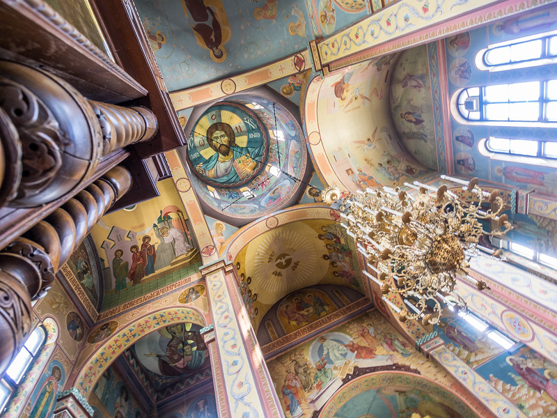 Looking Up Inside the Christmas Cathedral, Tiraspol, Transnistria