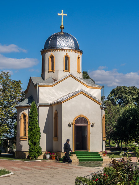 Priest and Chapel, Noul Neamt Monastery, Transnistria