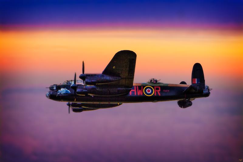 Avro Lancaster Bomber at Dawn