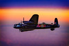 Avro Lancaster Bomber at Dawn