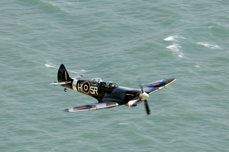 Spitfire  over the Sea
