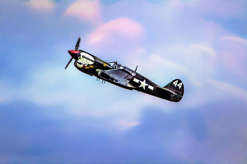 P-41 Kittyhawk Takes To The Sky