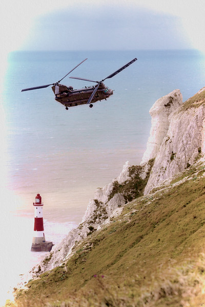 Chinook Over Beachy Head