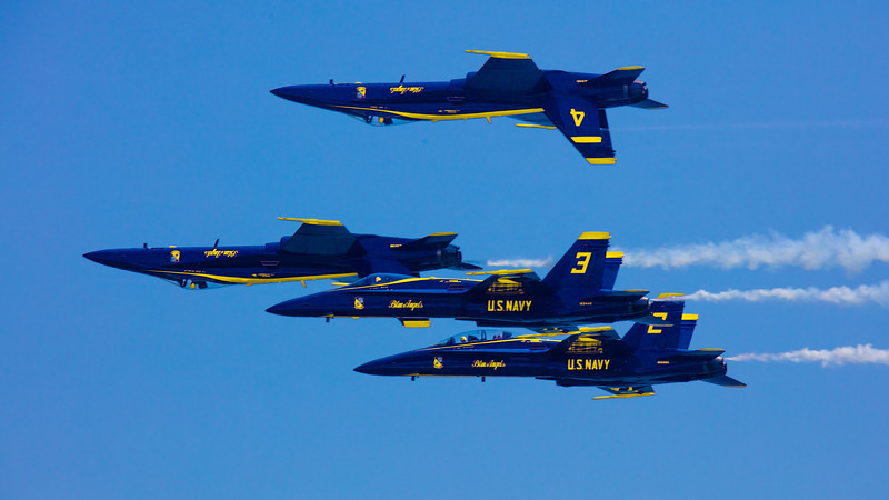 Blue Angels Showing Off