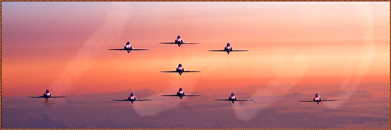 Red Arrows At Dawn