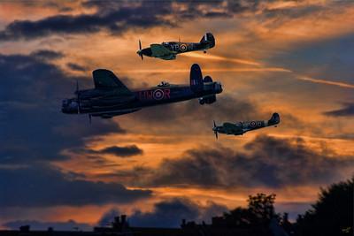 A Lancaster Bomber Returns Home