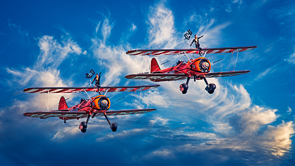 The Brave Wingwalker's Wave Farewell