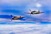 Messerschmitt BF 109s Prowl The Cloud Layers