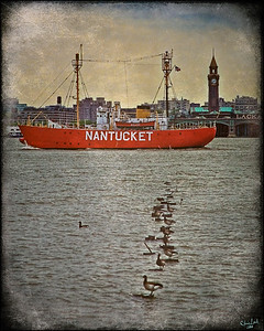 The Nantucket Sails Down the Hudson River Seen from the West Side of New York