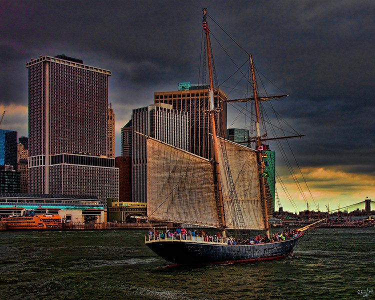 Sailing By Downtown Manhattan