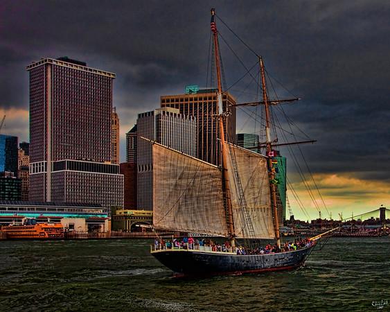 Sailing By Downtown Manhattan