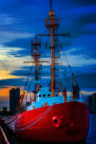 The Lightship Nantucket At Sunset
