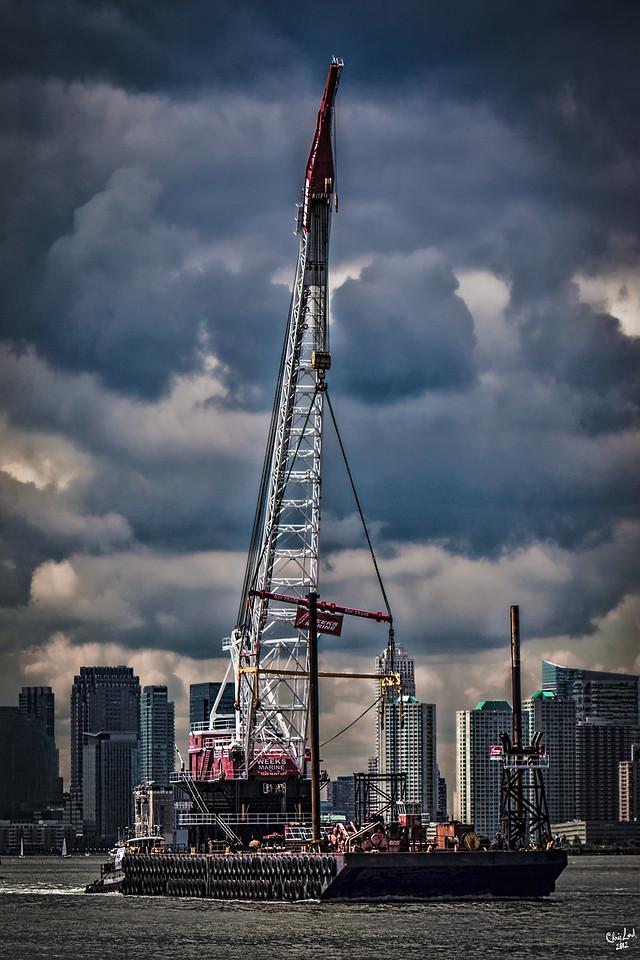The Crane Barge Arrives