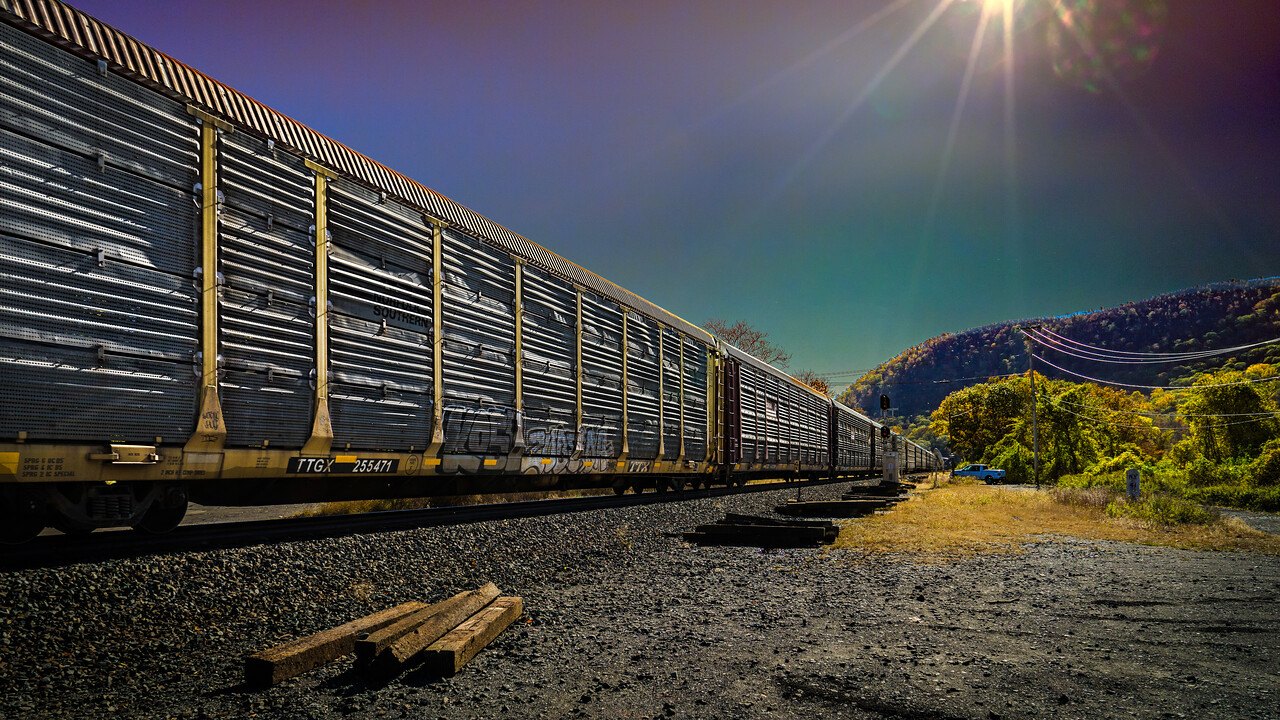 Freight Train Passing